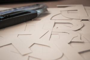 řezání písma