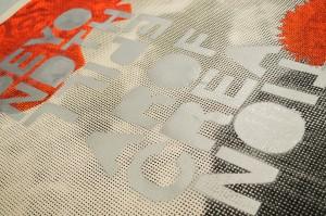 plakat sítotisk + akryl