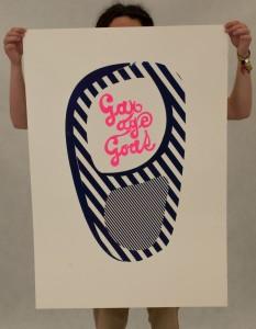 plakat Garage Goat — sítotisk