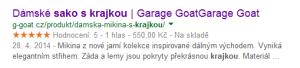 výsledek vyhledávání google